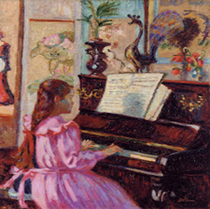 Armand Guillaumin - Young Girl at Piano